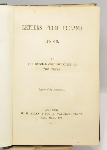 Title page of Letters from Ireland | John O'Brien