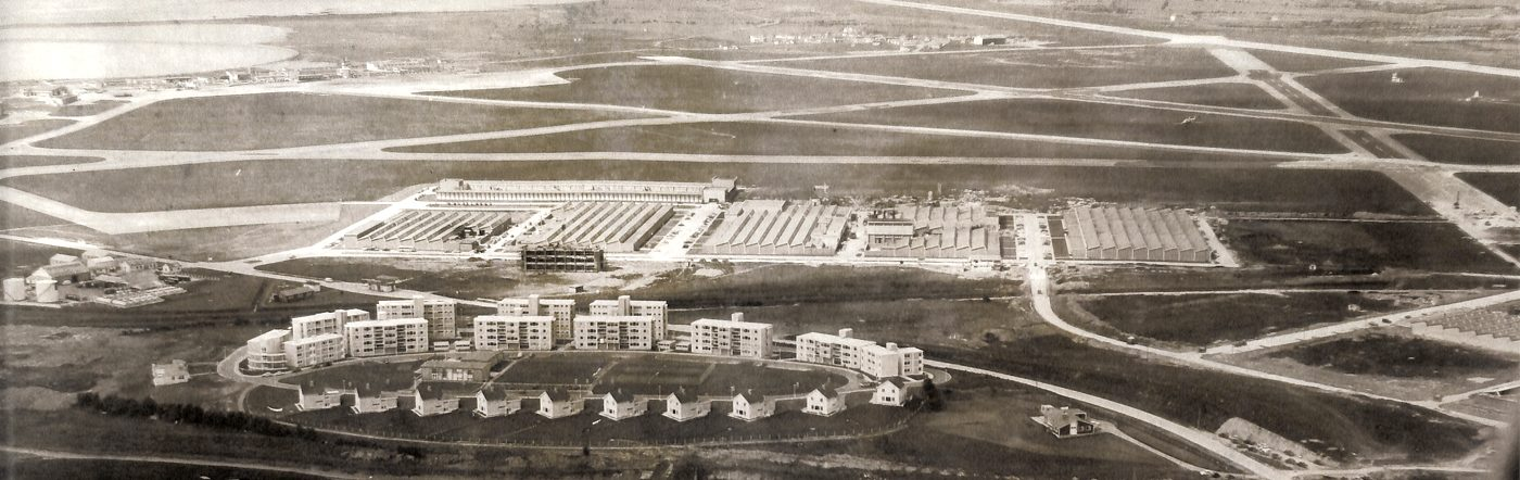 Shannon Airport, Industrial Estate and the beginning of the town in the early 1960s
