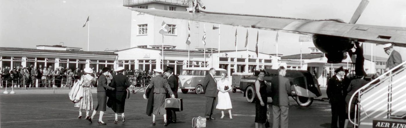 A busy scene at Shannon Airport in the 1950s