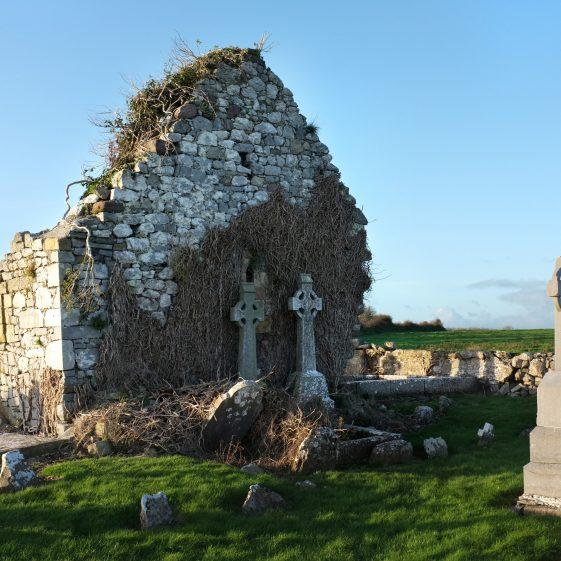 Clonloghan Graveyard, from the east   John O'Brien